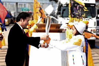 La llama olímpica aterriza en Corea del Sur para los JJOO de PyeongChang 2018