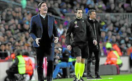 Berizzo se impuso en su primera visita al Camp Nou como técnico por 0-1, en la 14/15.