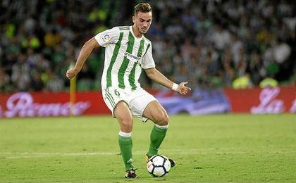 Fabién salió en el tramo final del partido.