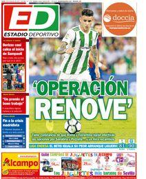La portada de ESTADIO Deportivo del lunes