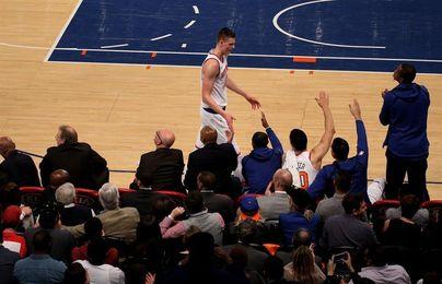 118-113. Ante los Hornets, Porzingis sella el tercer triunfo seguido de los Knicks