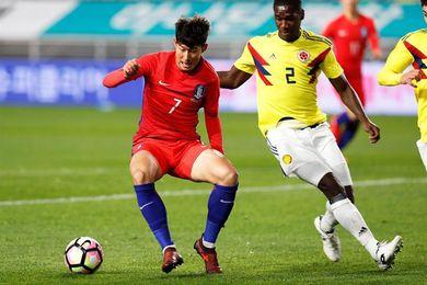 2-1. Colombia paga caros sus errores en defensa ante Corea del Sur
