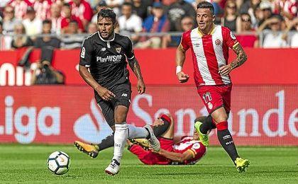 Walter Montoya, en el partido de Liga ante el Girona.