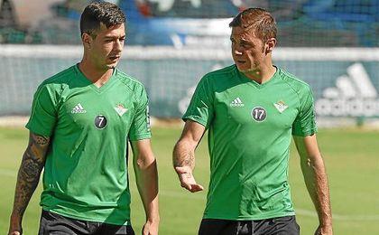 Sergio León y Joaquín son dos de los jugadores béticos más temidos por el Eibar.