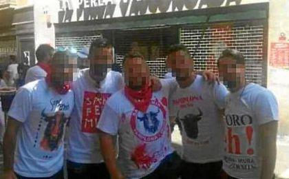 Imagen de los cinco acusados por violación a una joven en San Fermín.