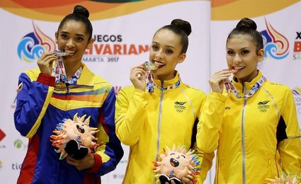 Lina Dussan encabezó éxito de Colombia en el último día de la gimnasia