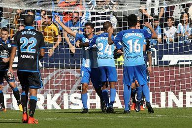 3-2. Borja Bastón salva al Málaga con un gol en los últimos minutos