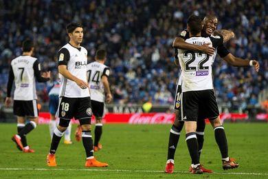 El Valencia gana ocho partidos seguidos en Liga por primera vez