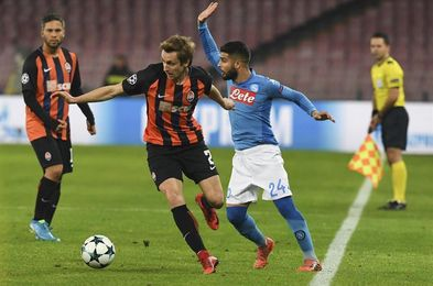 3-0. El Nápoles golea al Shakhtar y sigue creyendo en el pase a octavos