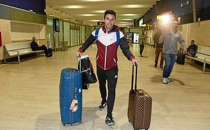 Rubén Castro, a su llegada a Sevilla tras jugar en China.