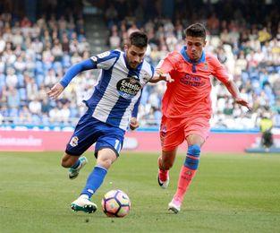 Juanfran, Adrián y Carles Gil, novedades del Dépor ante el Athletic