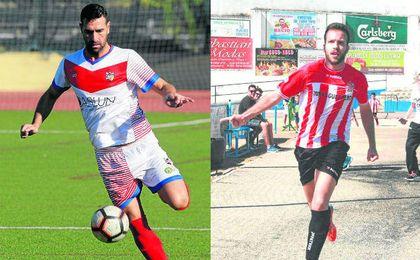 Javi Blanco (izquierda) cambió en verano el UD Morón por el Morón CF, camino inverso al que hizo Adri Muñoz (derecha).