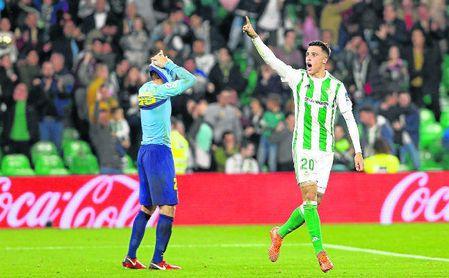 Cristian Tello anotó el sexto gol del Betis de jugadores salidos desde el banquillo.