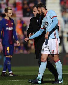 Sergi Gómez padece una luxación en el hombro derecho