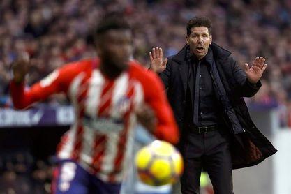 El Atlético pone la mente en ´Champions´ con titulares aparte y sin Juanfran