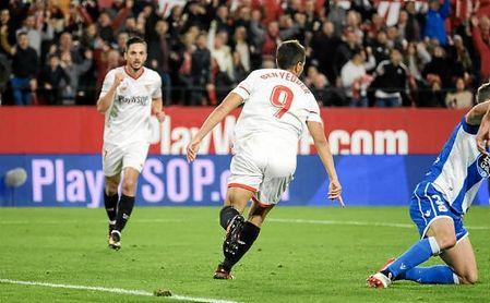 Wissam Ben Yedder hizo ante el Deportivo su decimotercer tanto de la temporada.