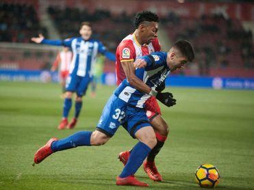 El Girona se entrena sin ocho de sus efectivos