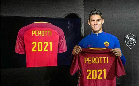 Perotti renueva con la Roma
