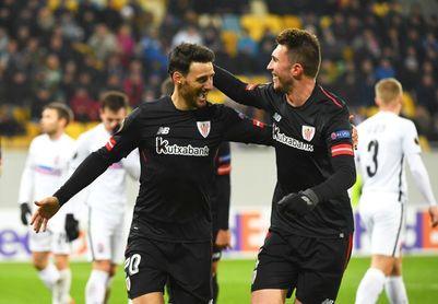 Raúl García y Aduriz, en el once ideal de la sexta jornada de la Liga Europa