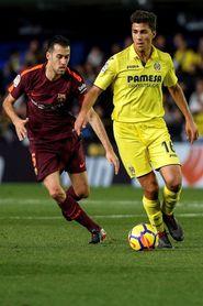 Sin goles al descanso en La Cerámica entre el Villarreal y el Barcelona