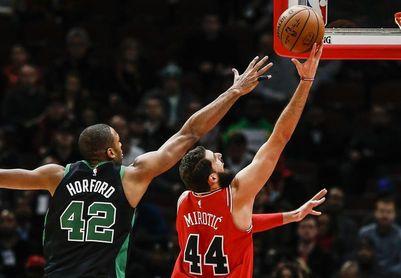 108-85. Destacado debut de Mirotic como titular con los Bulls que se imponen a los Celtics