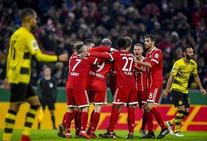El Bayern vence al Dortmund por 2-1 y está en cuartos de la Copa de Alemania