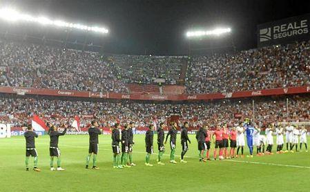 Imagen del derbi Sevilla-Betis de la pasada temporada.