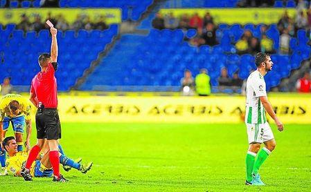 Ante el Athletic, Amat vio su segunda roja en apenas cuatro partidos.