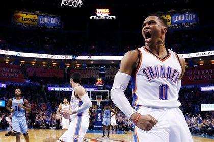 112-107. Westbrook anota 31 puntos y los Thunder logran el quinto triunfo seguido