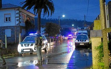 El lugar en Asados (Rianxo) dónde la Guardia Givil ha encontrado el cuerpo de Diana Quer.