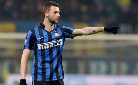 Marcelo Brozovic, con el Inter de Milán.