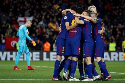 1-0. El Barça logra una mínima ventaja ante un defensivo Valencia