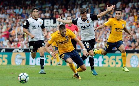 El Valencia no gana a domicilio al Atlético de Madrid desde hace siete años