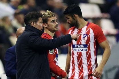 Diego Costa-Griezmann y Zaza-Santi Mina, ataques titulares