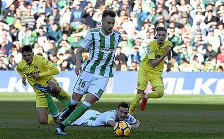 Loren, en el partido ante el Villarreal.