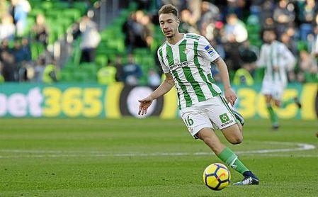Loren, en el partido ante el Villarreal en el Villamarín.