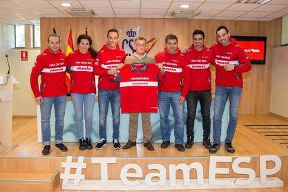 El equipo Himoinsa acudió al CSD tras completar su último Dakar