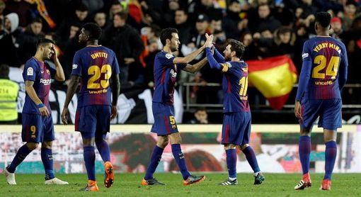 El Barcelona ganó cuatro finales al Sevilla y perdió una