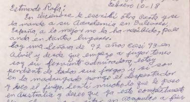 La carta de una bisabuela a Nadal que emociona a las redes