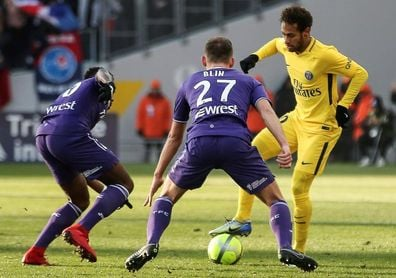 Neymar da la victoria al PSG en Toulouse antes de viajar a Madrid