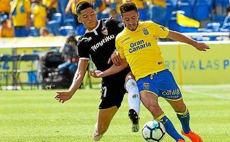 Correa, en un lance del partido ante Las Palmas.