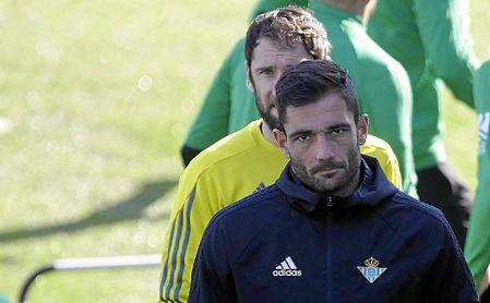 Adán y Dan Giménez, en un entrenamiento en la ciudad deportiva.