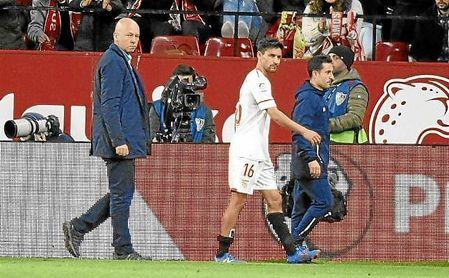 Jesús Navas se retiró lesionado en la primera parte.