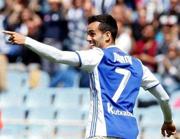"""Juanmi (Real Sociedad): """"Ojalá podamos hacer un partido completo, sin cometer pequeños errores""""."""