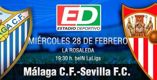 Málaga-Sevilla F.C.: Un herido que busca antídoto