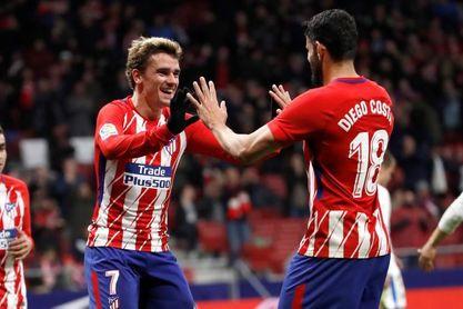 Diego Costa-Griezmann, el ataque también contra el Lokomotiv