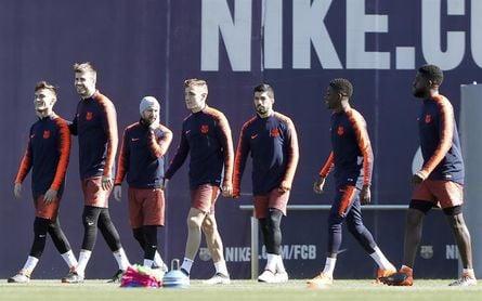 Los no convocados para la Supercopa de Catalunya vuelven a los entrenamientos