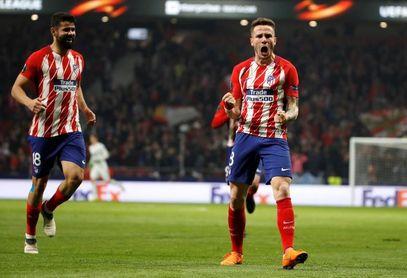 3-0. El Atlético acomoda el pase a cuartos de la Liga Europa