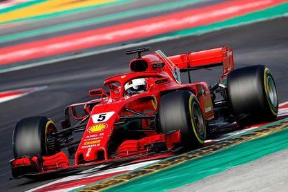 El Ferrari de Vettel vuela en una jornada de máxima actividad en Montmeló