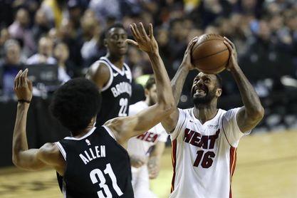 129-102. Johnson dirige la victoria de los Heat